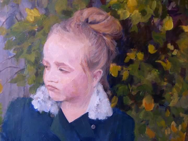 """Henia Flynn's """"Aida"""" Acrylic on Canvas 18"""" x 24"""""""