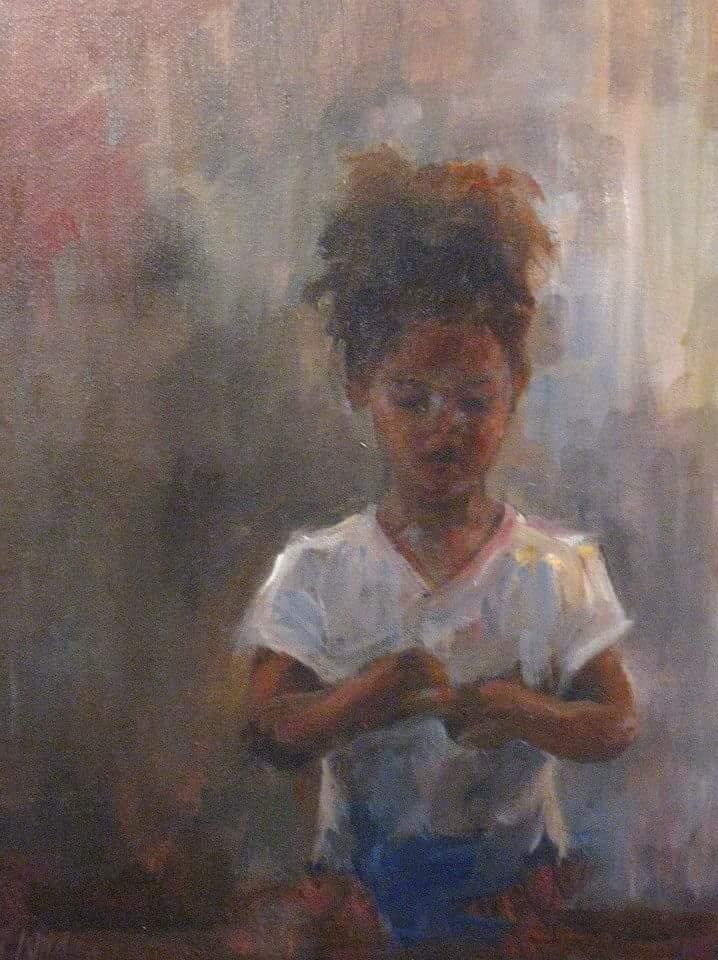 """Henia Flynn's """"Wonder"""" Acrylic on Canvas"""