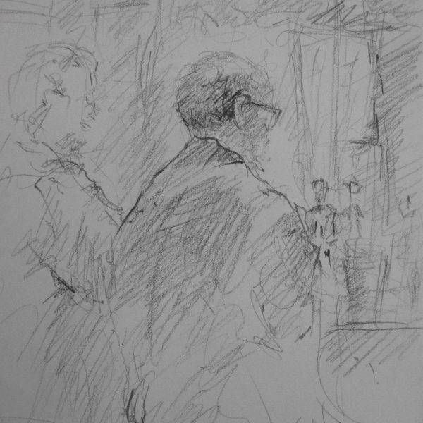 "Henia Flynn's ""At the Bar"" Sketch from Life"