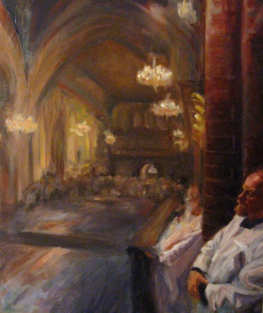 """Henia Flynn's """"Behind the Scenes"""" Oil on Canvas 18"""" x 24"""""""