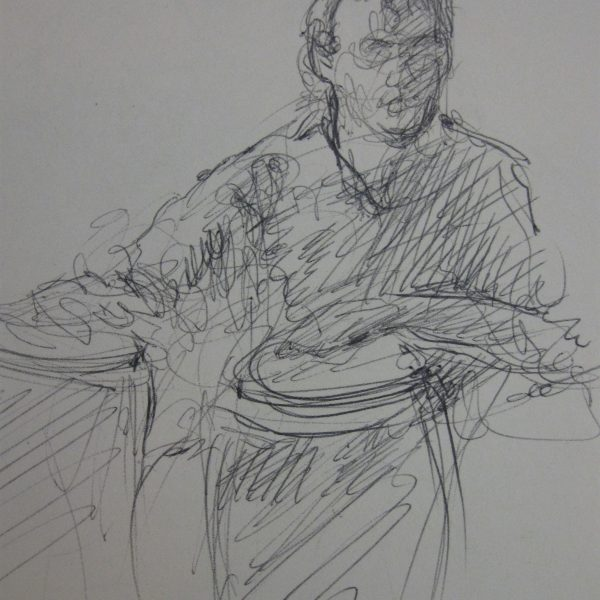 "Henia Flynn's ""Conga Player"" Sketch from Life"
