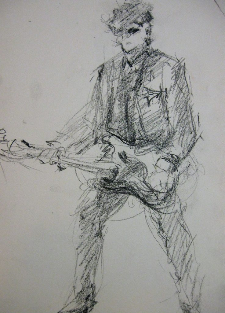 """Henia Flynn's """"Marty"""" Charcoal sketch from Life"""