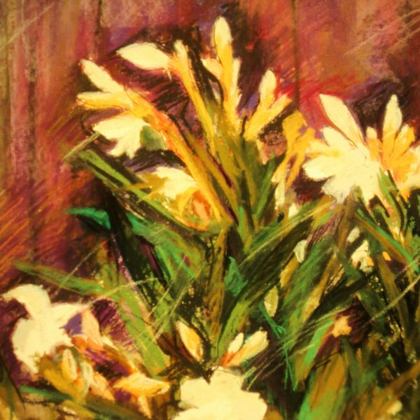 "Henia Flynn's ""Grandma's Flowers"" Pastel on Paper 20""x 24"""