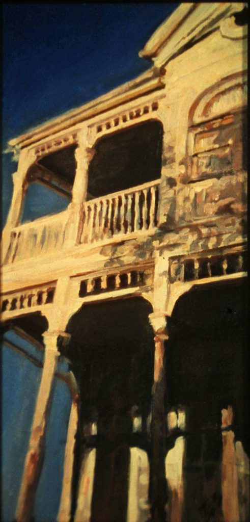 "Henia Flynn's ""Esplanade, Louisiana Sky"" Acrylic on Canvas"