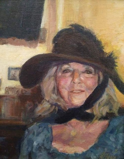 "Henia Flynn's ""Diane"" Acrylic on Canvas 9"" x 12"""