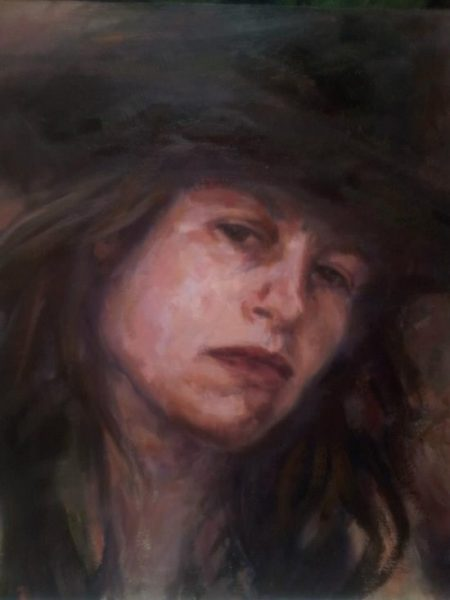 "Henia Flynn's ""I Survive"" Oil on Board 24"" x 24"""